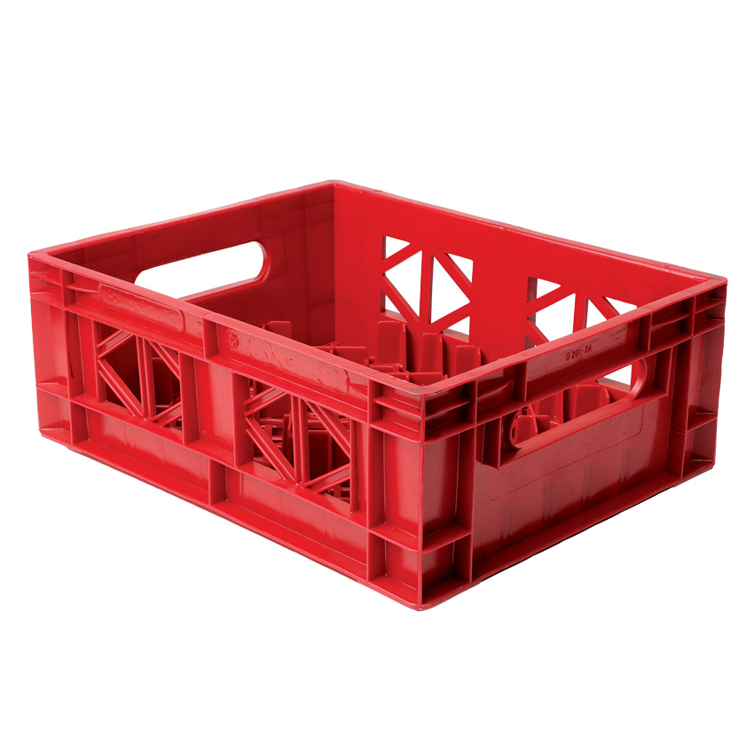 Dairy crate half depth